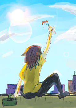 wanna draw on the sky