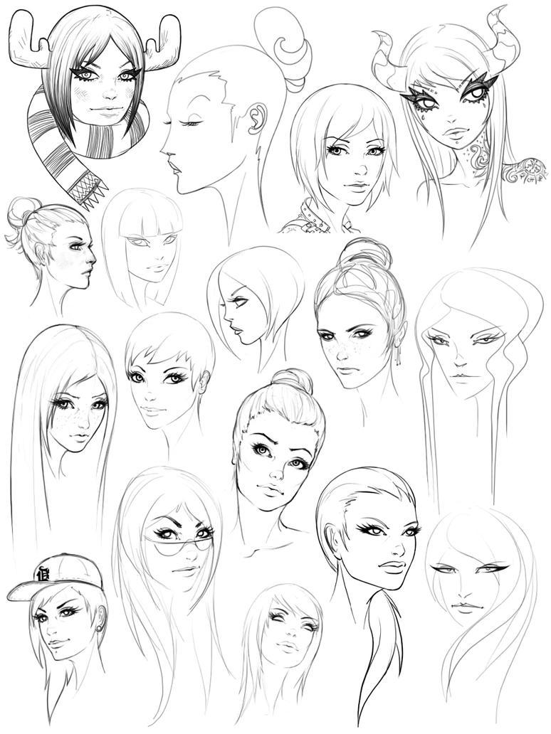 Sketches2011 F by AdrianDadich