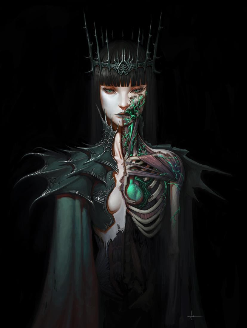 Lich Queen by AdrianDadich