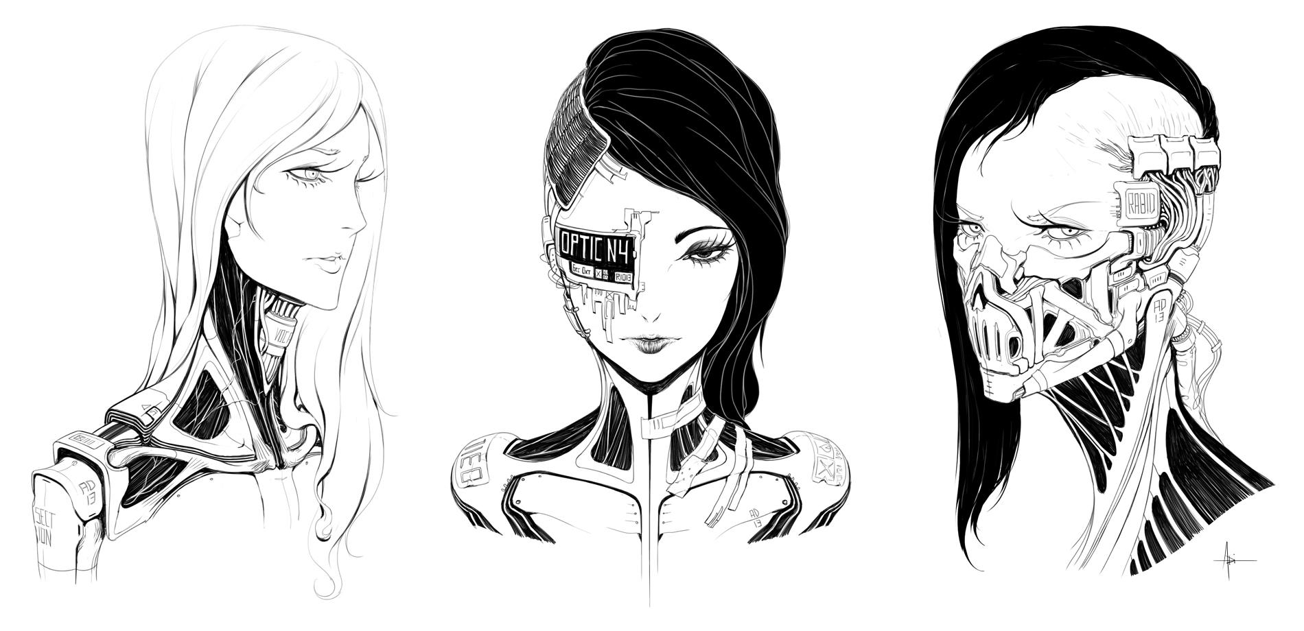 Female Faces 001 by AdrianDadich