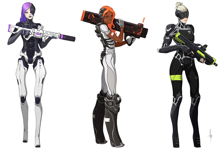 Cyborg Soldiers by AdrianDadich
