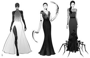Spider Dresses by AdrianDadich