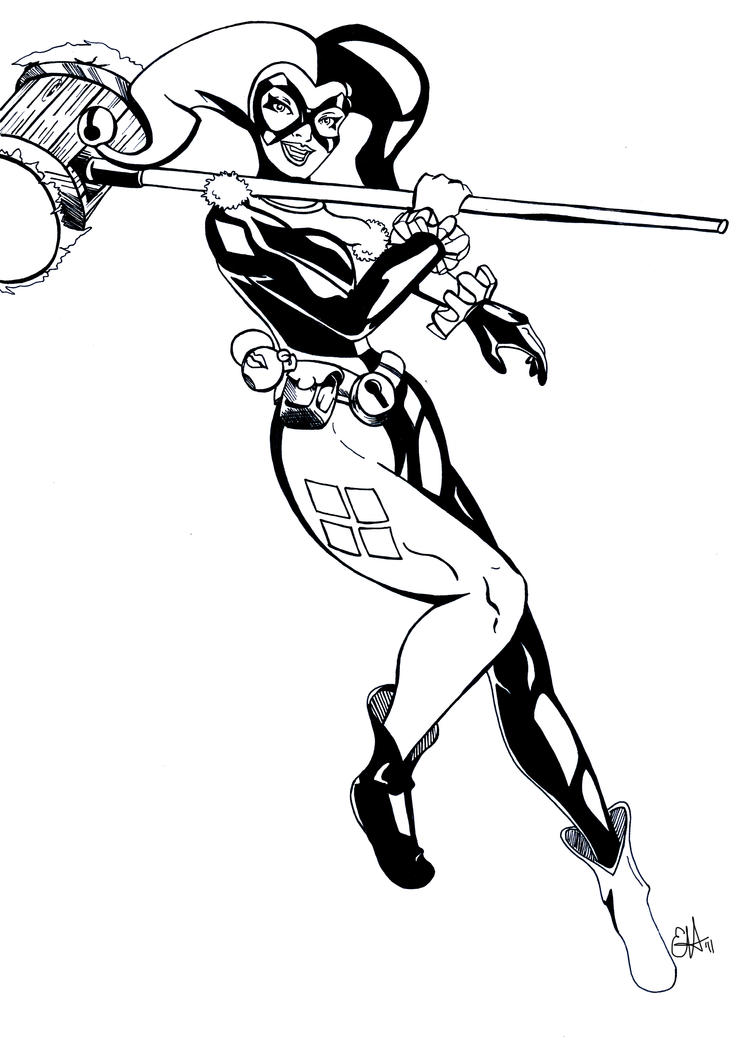 Harley quinn printable coloring pages - Harley Quinn Cameltoe Coloring Pages 754x1060