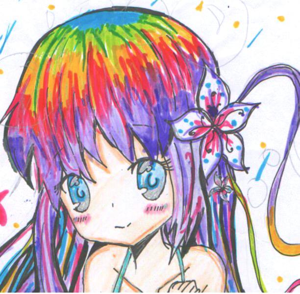 картинки аниме радуга: