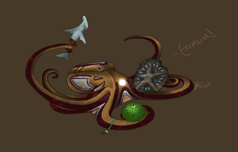 Octoman by ravekitten