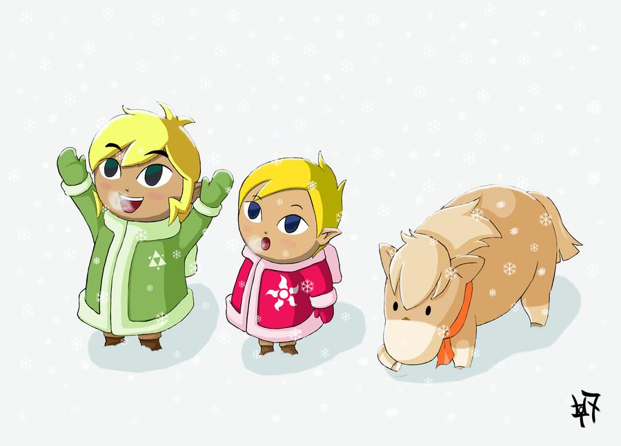 Finn and Shelli - First Snow by Zaziki7