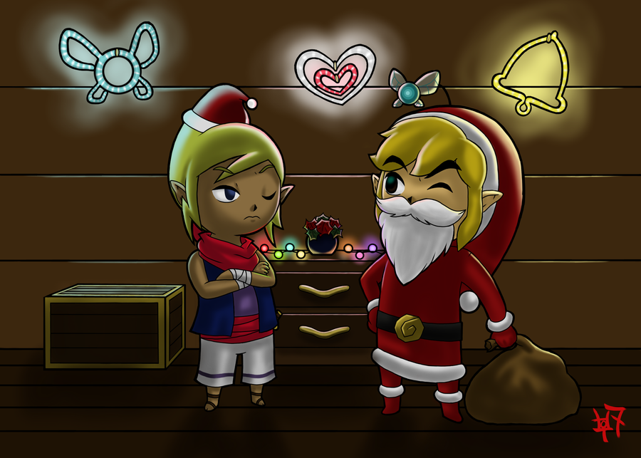 Christmas with Link and Tetra by Zaziki7 on DeviantArt