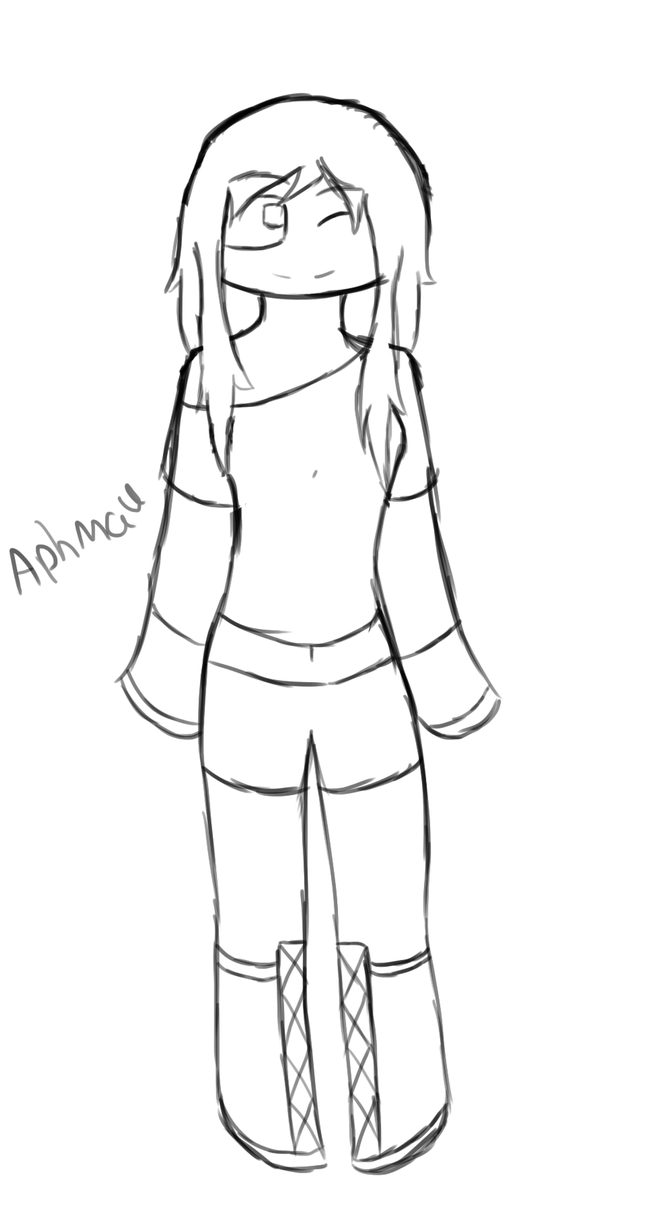 Hey it 39 s aphmau by monothegrump on deviantart for Aphmau coloring page