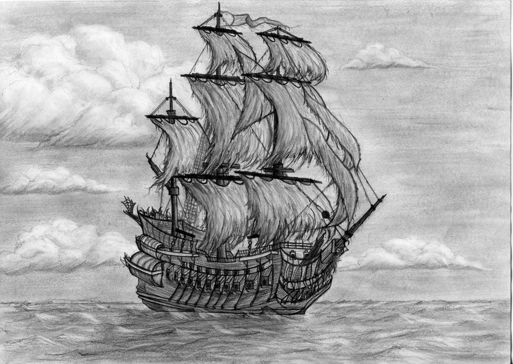 The Flying Dutchman Ship By Arikkh On DeviantArt