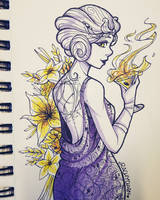[Inktober] Day 5 - Socialite Witch by Ra-ChelB