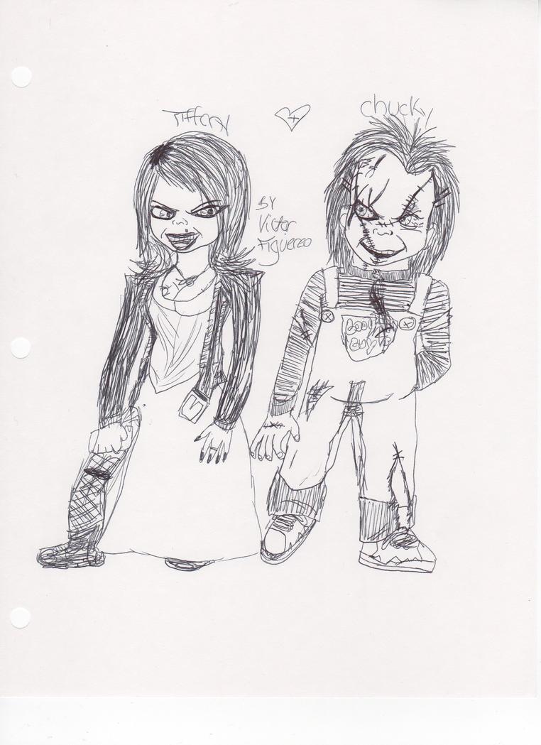 Chucky And Tiffany by xnightchildx on DeviantArt