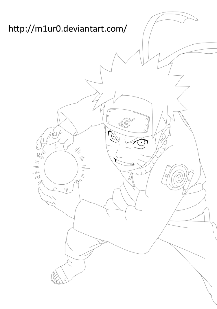 Naruto Shippuden Lineart : Naruto rasengan ii lineart by m ur on deviantart