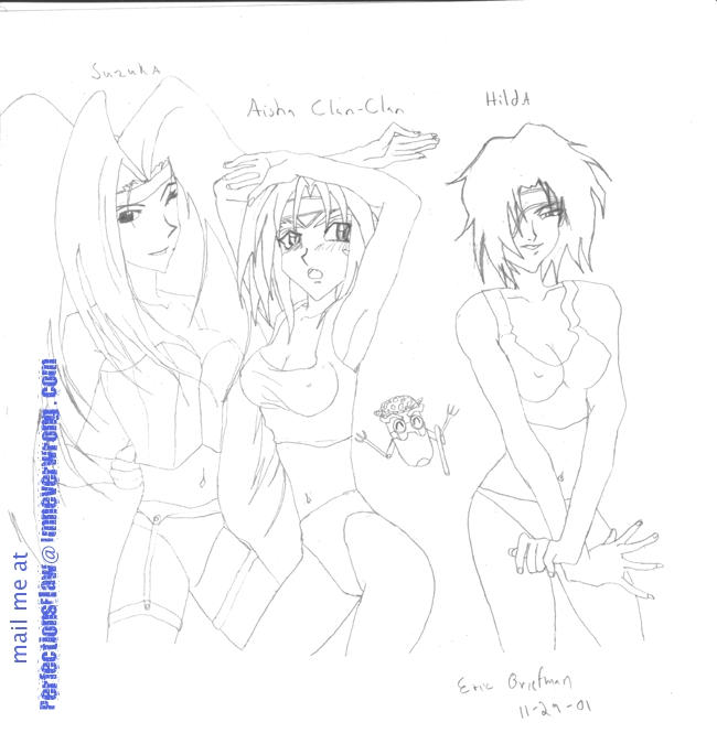 Suzuka Aisha and Hilda by perfectionsflaw
