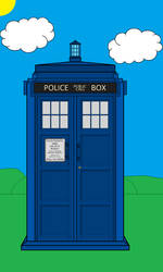 TARDIS and Background (Revamped) by WALLE1Doctor1Who