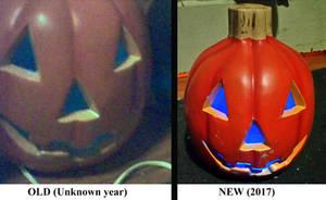 Happy Halloween (Blue Lit Pumpkin Comparison)