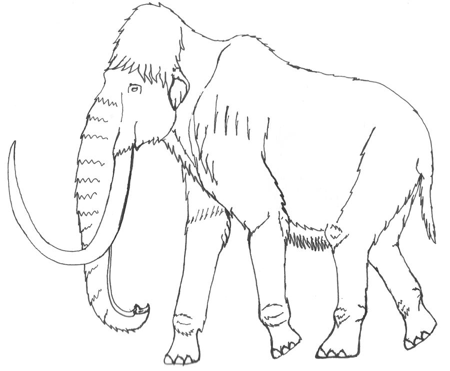 Real woolly mammoth coloring pages coloring pages for Wooly mammoth coloring page