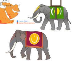 Alternate History - Arabian Elephants by Troyodon