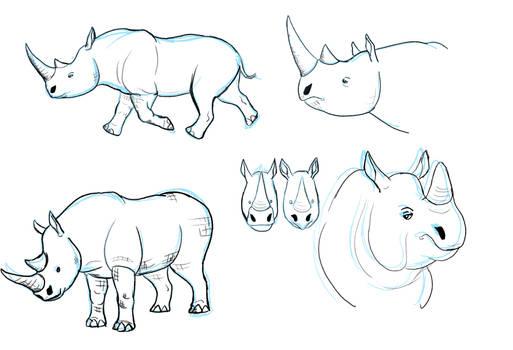 WIP - Rhino Studies
