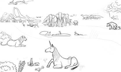 WIP - Fictional Countryside Meadow