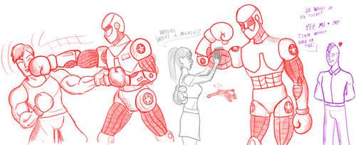 Boxing Robot Concept Art