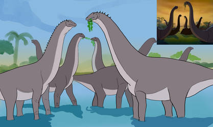 Rite of Spring Redraw: Brontosaurus