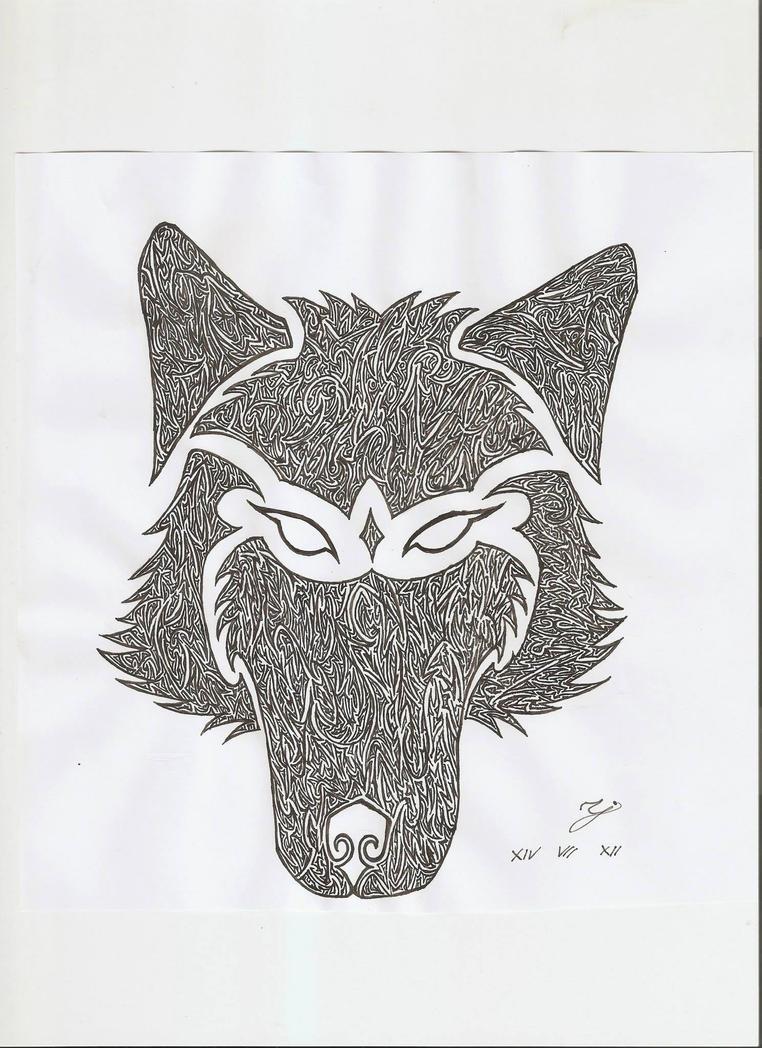 Wolf head by Karstein34