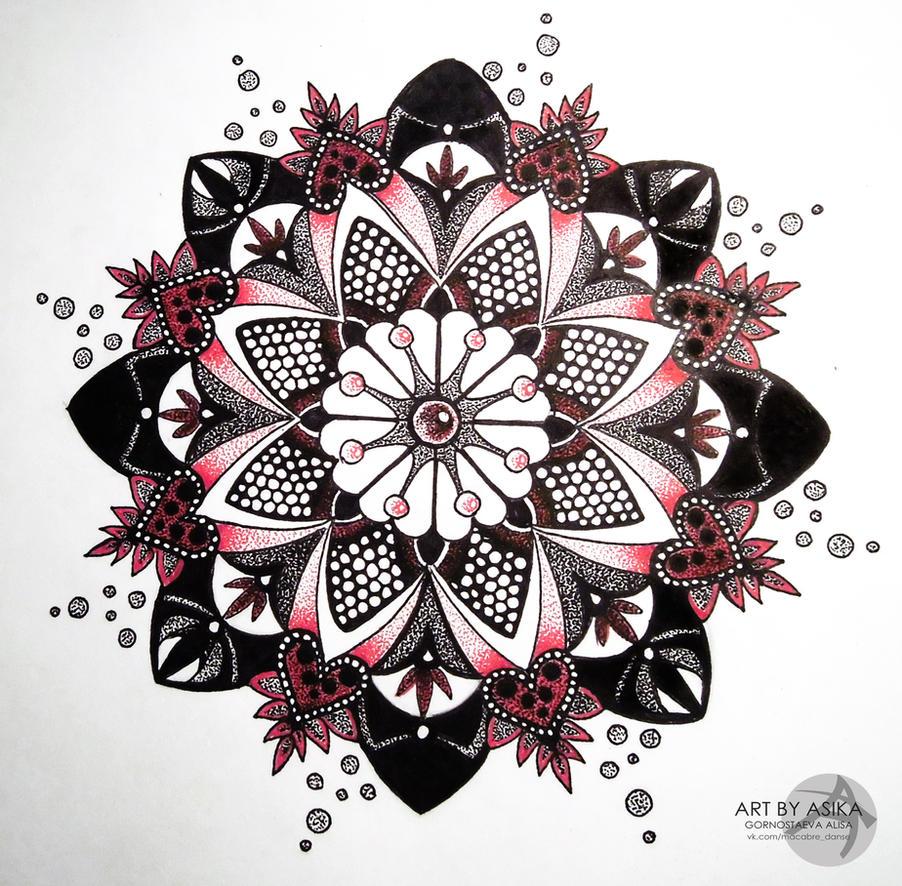 Mandala, dotwork. Tattoo sketch. by AsikaArt on DeviantArt