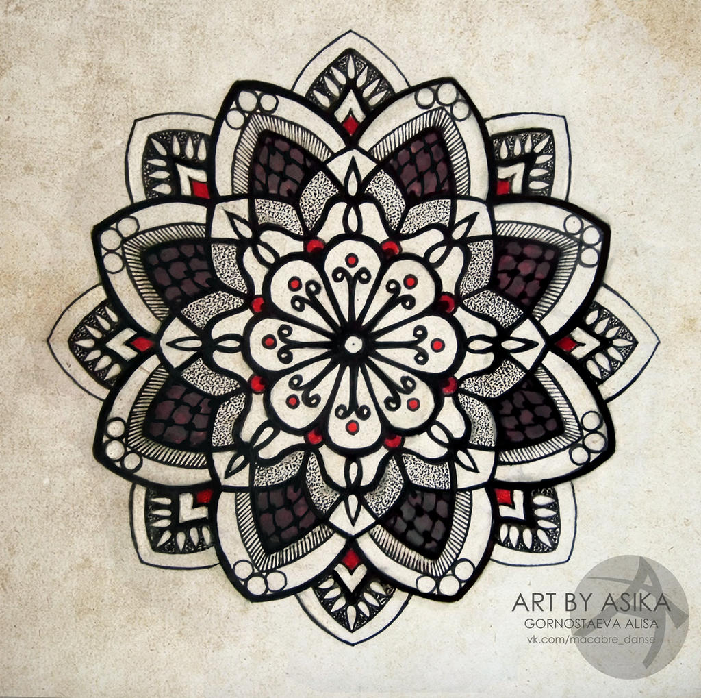 Tattoo Flash Mandala Dotwork By Asikaart On Deviantart