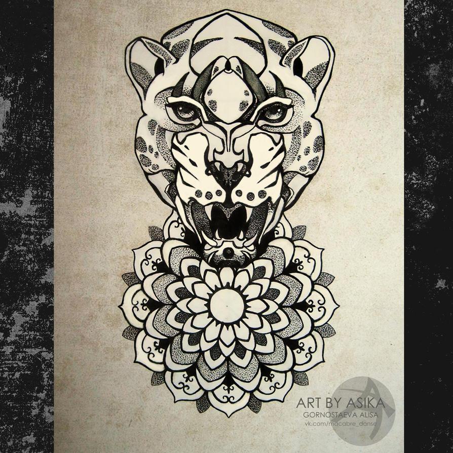 tattoo flash mandala dotwork by asikaart on deviantart. Black Bedroom Furniture Sets. Home Design Ideas