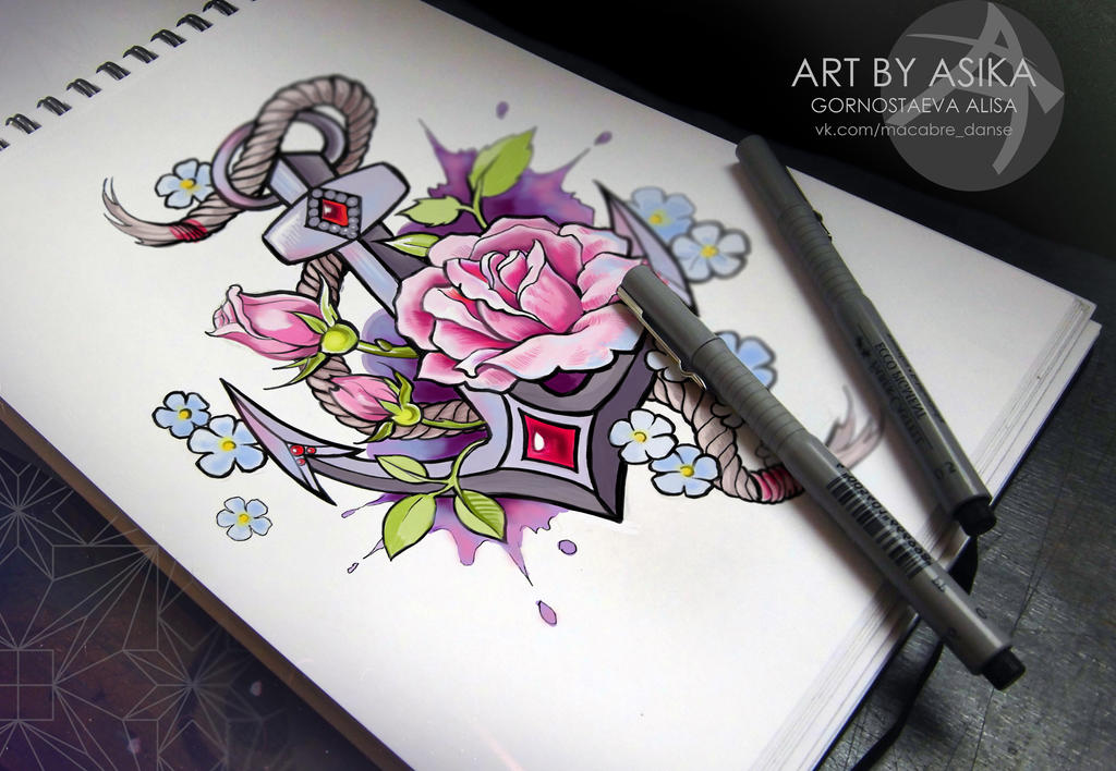 Tattoo flash new school by asikaart on deviantart - Dessin new school ...