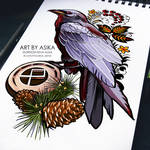 Raven (tattoo flash, neotrad)