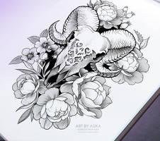 skull by AsikaArt