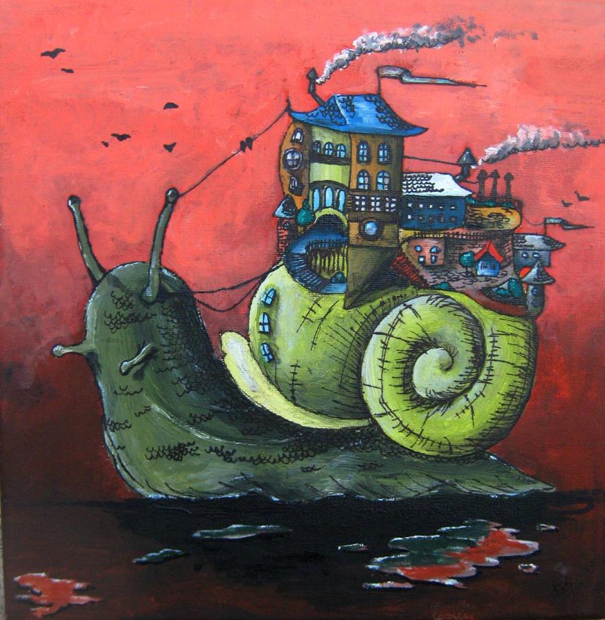 snail city by Cestica