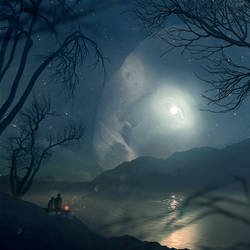 moon gazing by Cestica