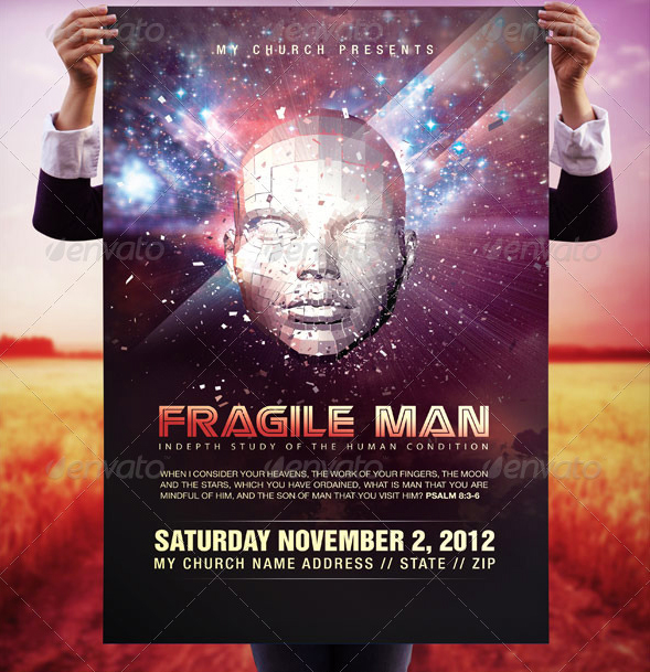 Fragile man 11x17 poster template by loswl on deviantart for 11x17 poster template photoshop
