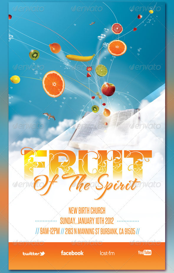 Fruit Of The Spirit Church Flyer And Cd Template By Loswl On Deviantart