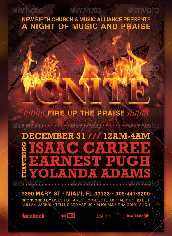 Ignite New Year Concert Flyer And Cd Template By Loswl On Deviantart