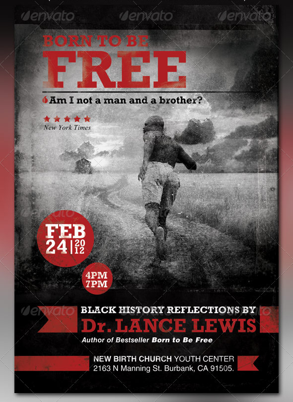 Born To Be Free Black History Flyer And Cd By Loswl On Deviantart