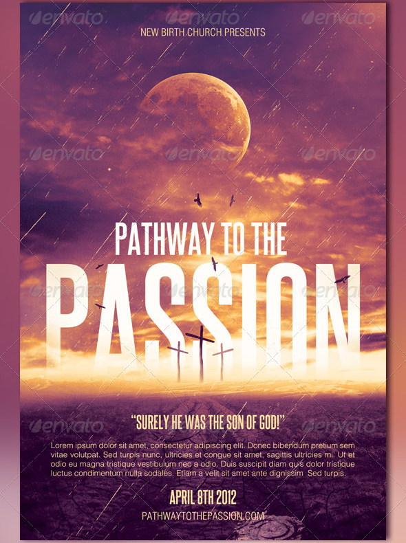 Pathway to the passion flyer ticket and cd by loswl on deviantart for Church event flyer