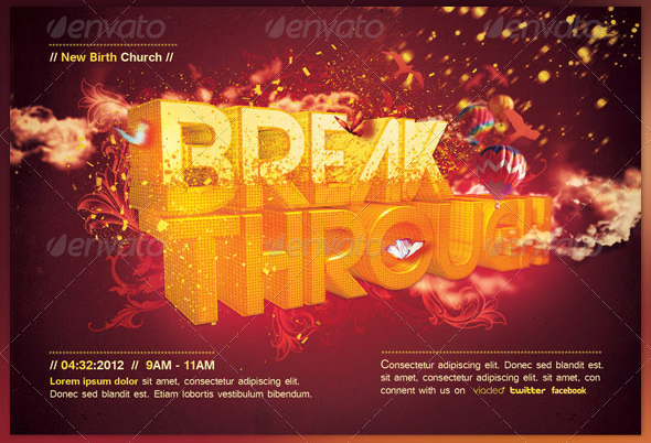 Break Through Church Flyer And Cd Template By Loswl On Deviantart