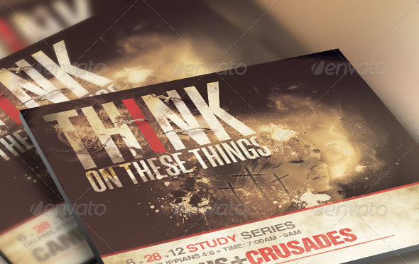Think on these things church flyer and cd template by loswl on deviantart for Church psd templates free