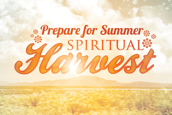spiritual harvest church flyer template by loswl