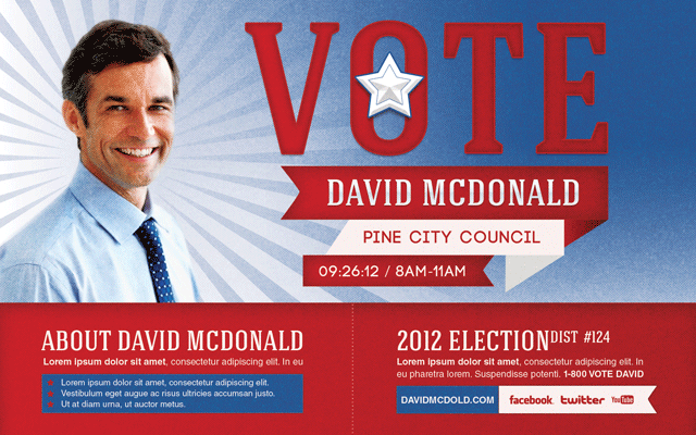 election poster template - Holala