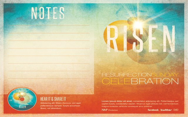 Risen Church Bulletin Template by loswl on DeviantArt sM6TQhK6