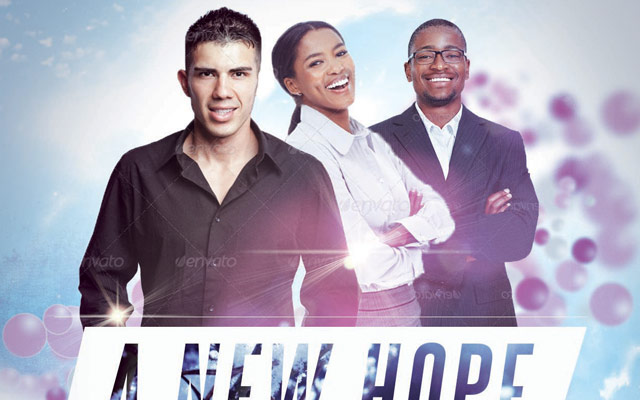 a new hope church flyer template by loswl