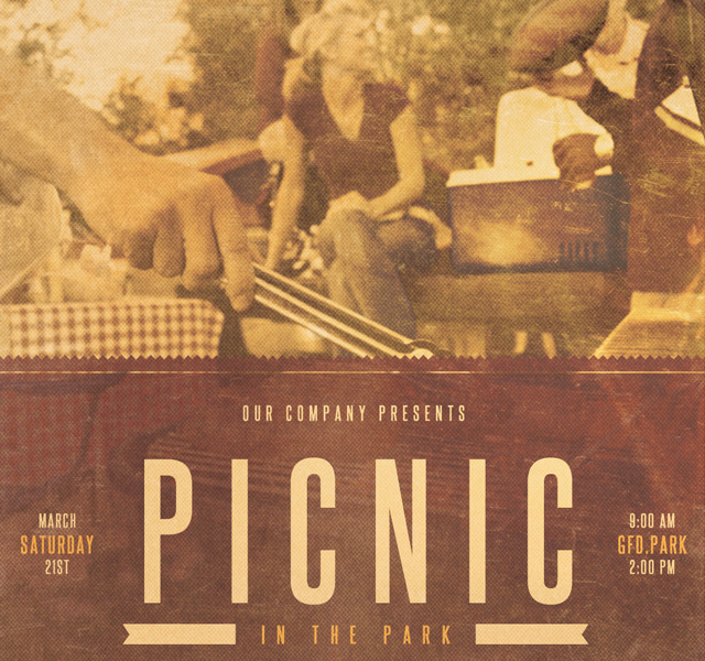 Picnic In The Park Event Flyer Template By Loswl On Deviantart