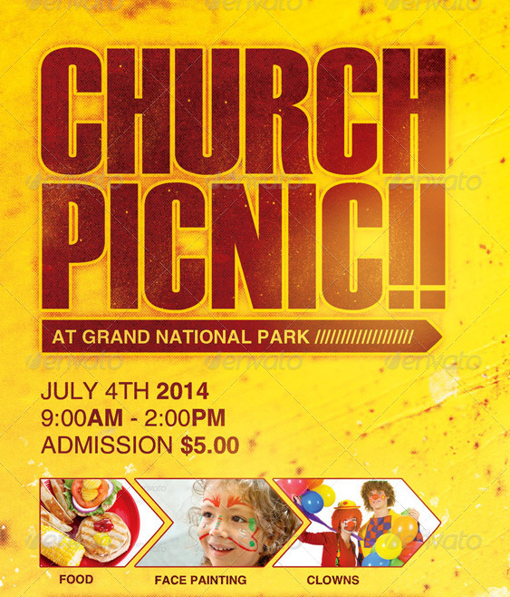 Church Picnic Flyer Template By Loswl On Deviantart