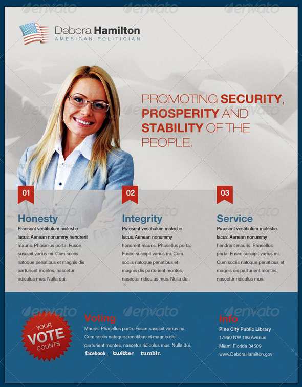 Promoting Security Political Flyer Template By Loswl On Deviantart