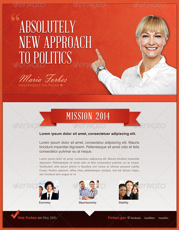 New Approach Political Flyer Template by loswl on DeviantArt – Political Flyer Template