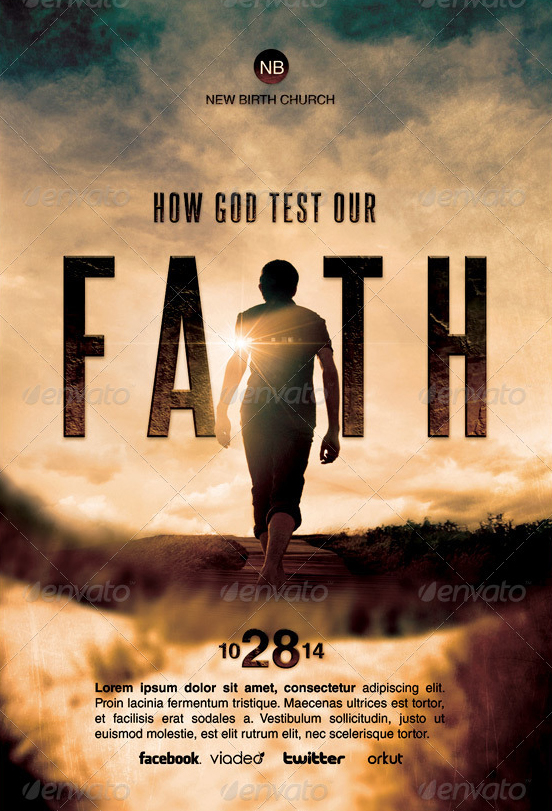 how god test our faith church flyer template by loswl